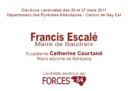Bulletin de vote 10x15 cm