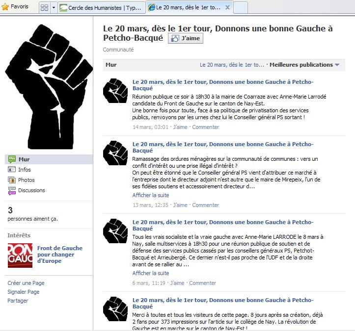 Front de gauche facebook